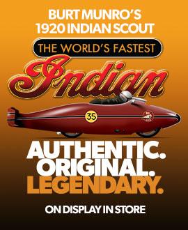 "See Burt Munro´s original ""World´s Fastest Indian"""